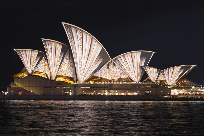 Sydney vívido fotografia de stock royalty free