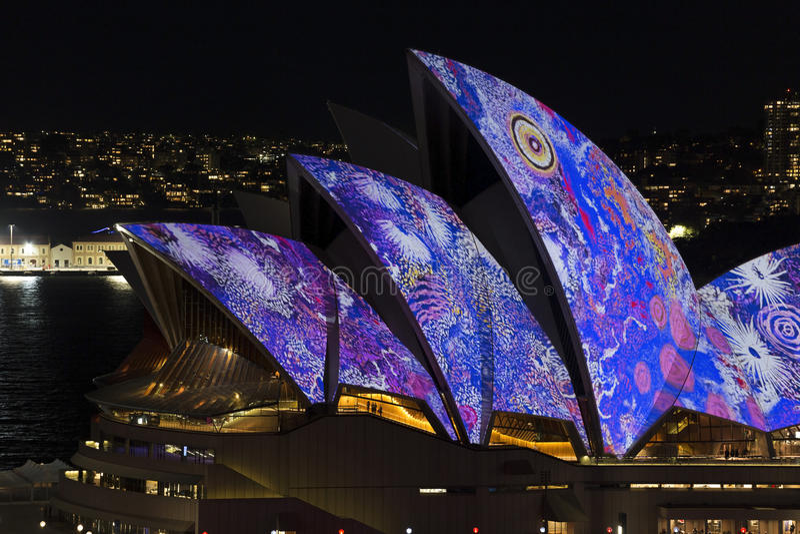 Sydney vívido imagens de stock royalty free
