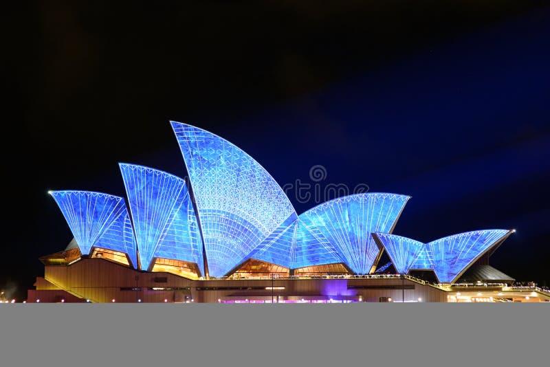 Sydney vívido: Um festival de luz, música fotos de stock