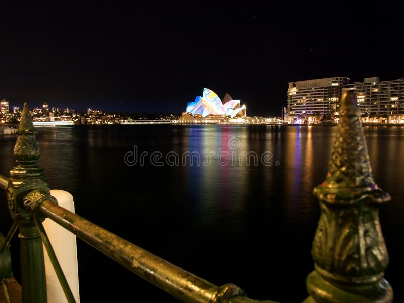 Sydney Vivid festival royalty free stock photo