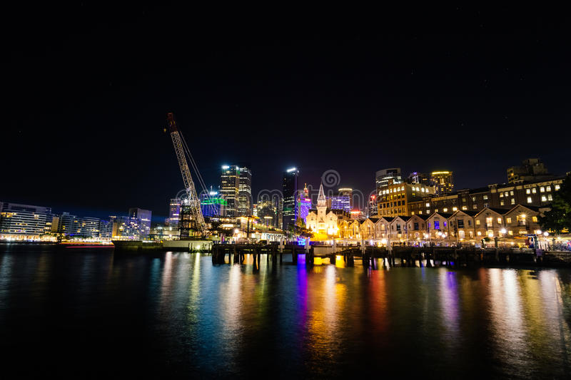 Download Sydney Vivid Light Festival 2014 Circular Quay Editorial Stock Image - Image of image, quay: 43673514