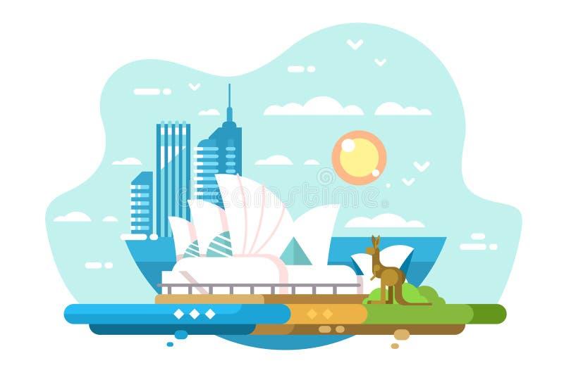 Sydney vom Watson-Schacht stock abbildung