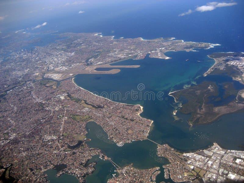 Sydney von der Luft lizenzfreies stockbild