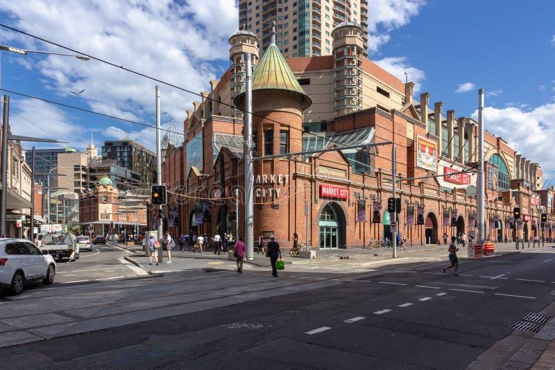 Sydneys irländares marknader Det är ett kommersiellt företag i Sydney, Australien: 13/04/2018 royaltyfria bilder