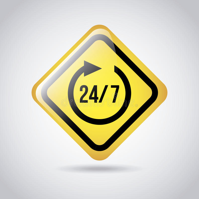 24-7 sygnał ilustracji