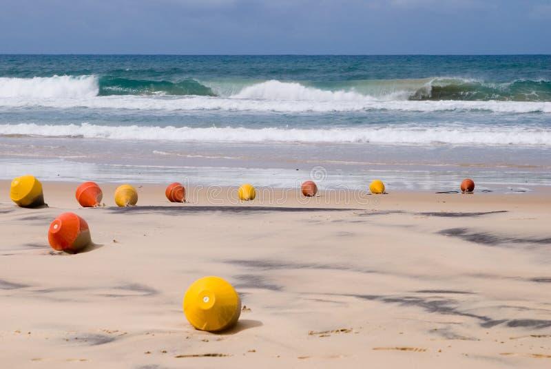 Sygnał pociesza na plaży obraz royalty free