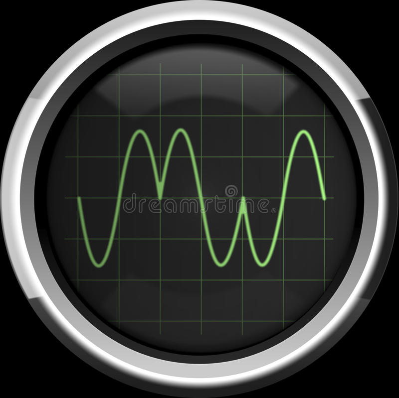 Sygnał z fazy modulacją (PM) royalty ilustracja