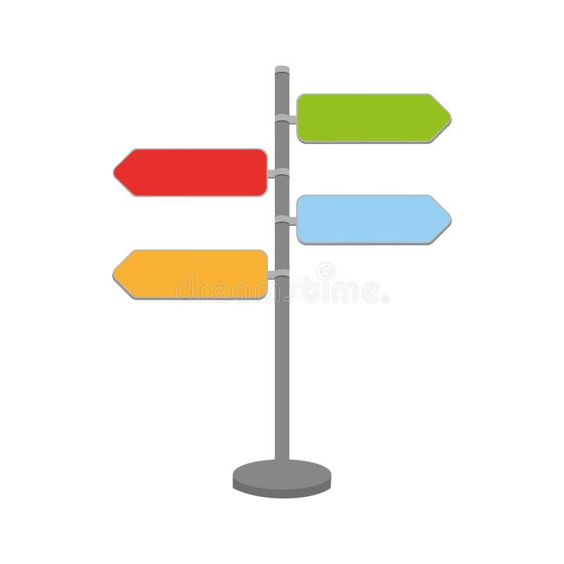 Sygnał z strzała ikoną ilustracja wektor