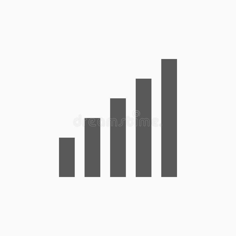 Sygnałowa ikona, smartphone, bateria, znak ilustracja wektor