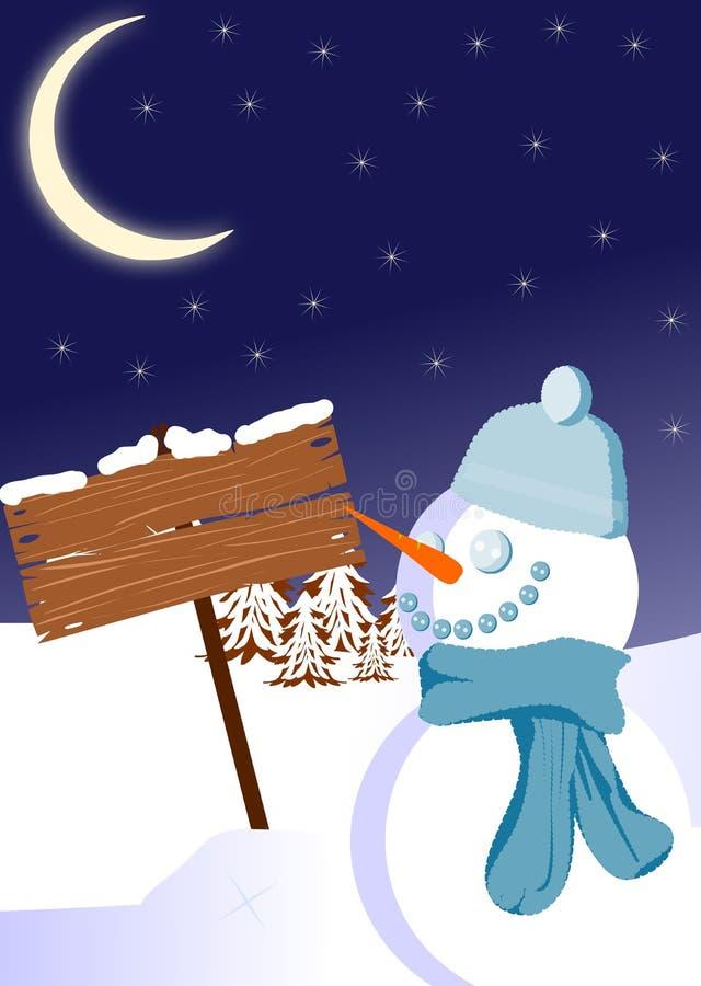 sygnałowa zima ilustracja wektor