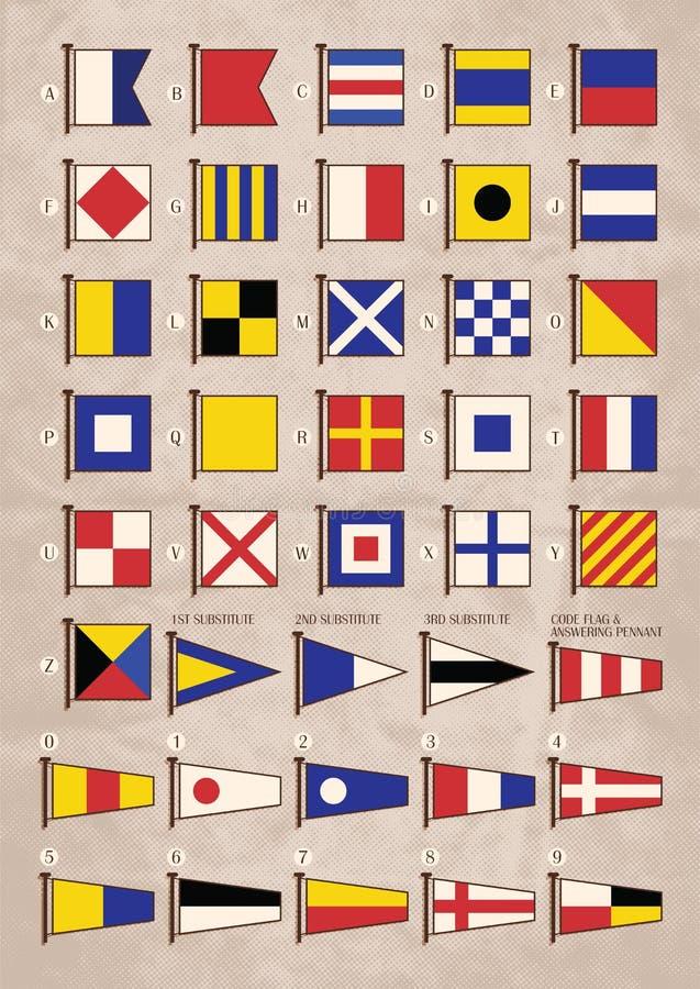 Sygnałowe flaga ilustracja wektor