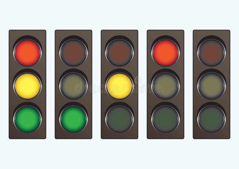 sygnału różny lekki ruch drogowy royalty ilustracja