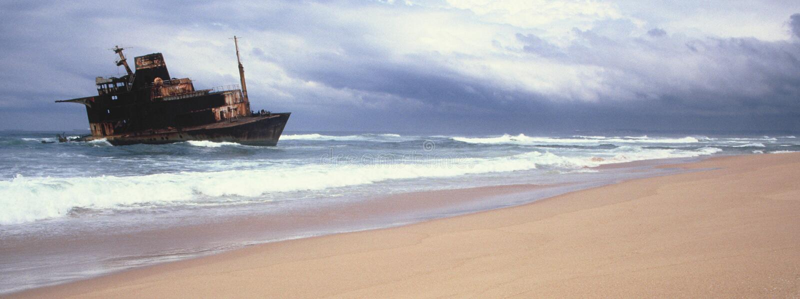 Sygna skeppsbrott arkivbild