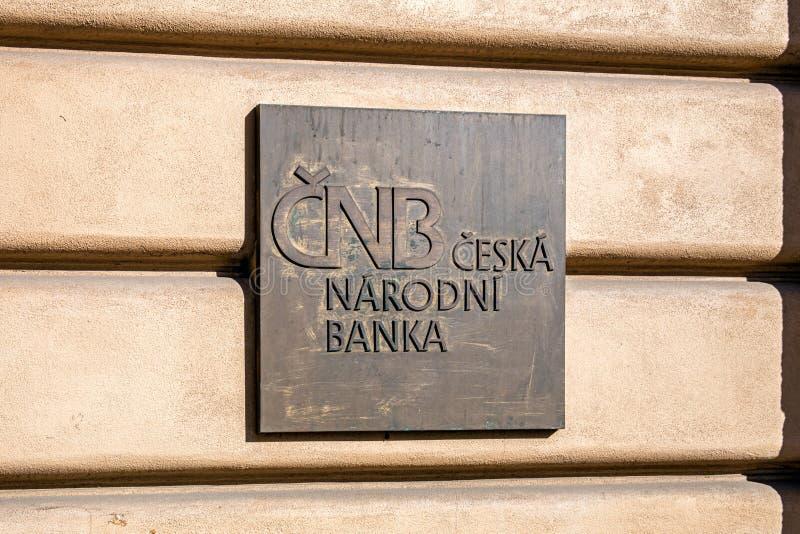 Sygnatura Czeskiego Banku Narodowego fotografia stock