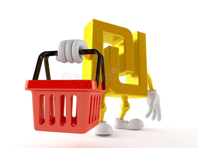 Syklu charakteru mienia zakupy kosz ilustracji