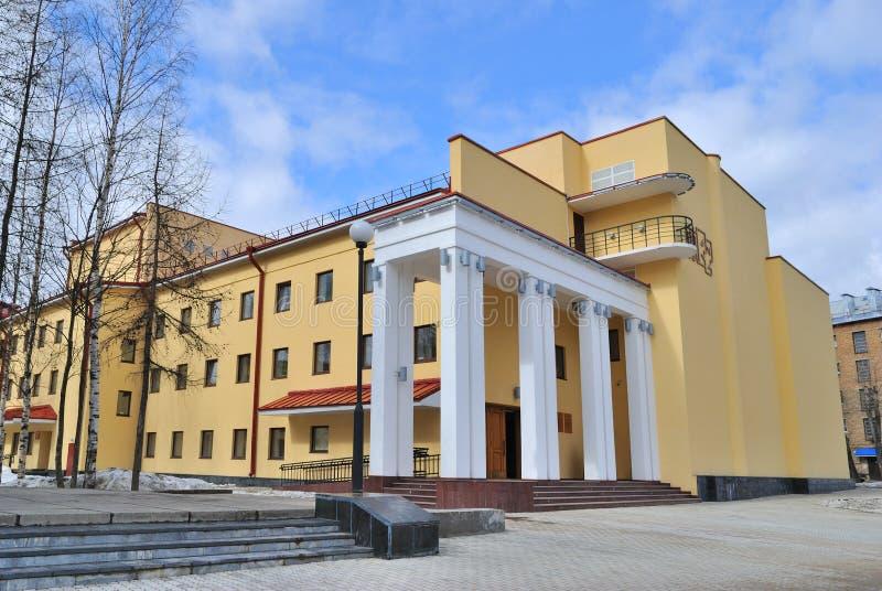 Syktyvkar. Θέατρο δράματος στοκ εικόνες