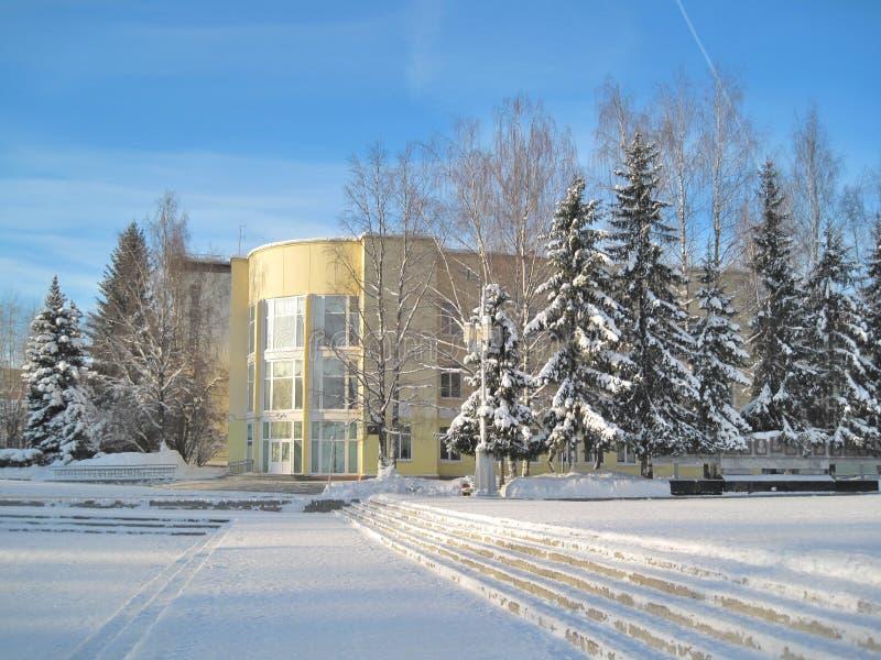 Syktyvkar no inverno imagens de stock