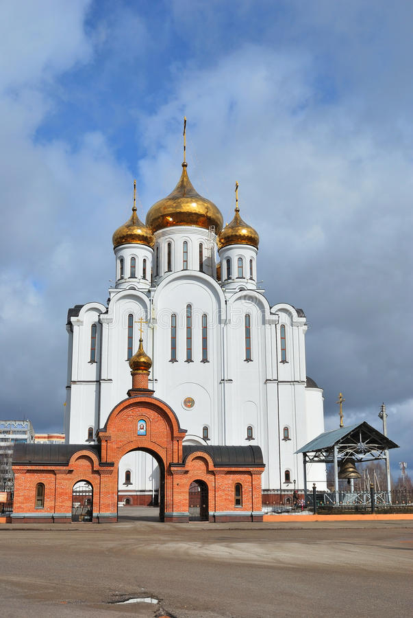 Syktyvkar. Stephen του καθεδρικού ναού Perm στοκ εικόνα