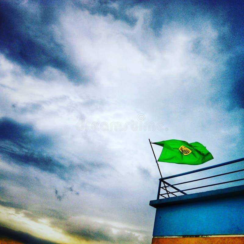 sylhet Bangladesh de las fans del Brasil lluvioso fotografía de archivo