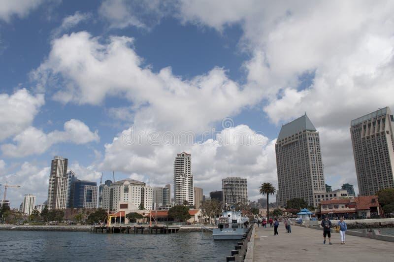 Syline en San Diego California photographie stock