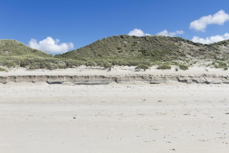 Sylt Allemagne d'érosion côtière photos stock