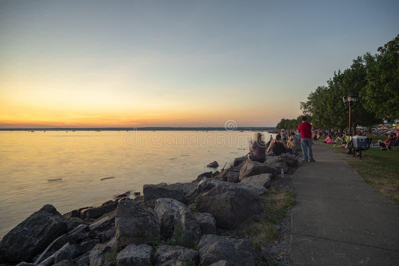 Sylvan Beach Sunset imagem de stock