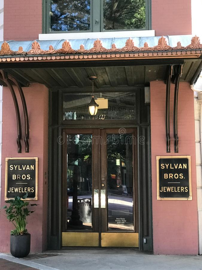 Sylvan Bros Vintage Clock In Front Of The Jewelry Store ...