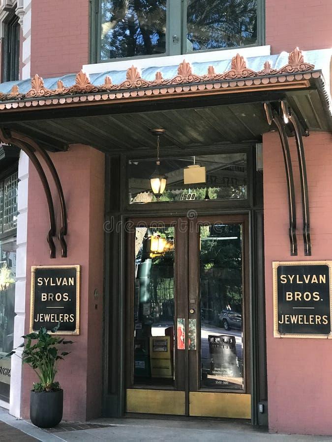 Sylvan Bros Juweliers, Colombia, Zuid-Carolina stock foto