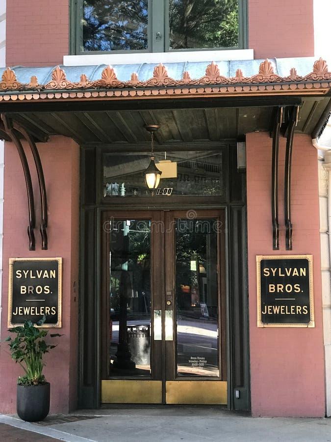 Sylvan Bros Juweliers, Colombia, Zuid-Carolina stock afbeelding