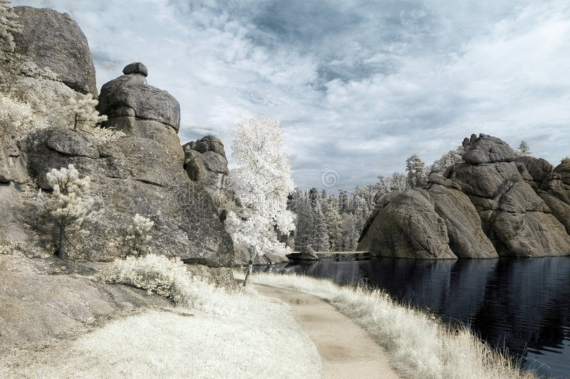 Download Sylvan Lake in Infrared stock photo. Image of lake, infrared - 6273556