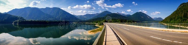 Sylvenstein湖 库存图片