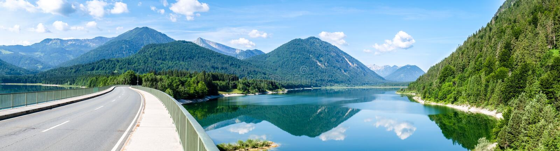 Sylvenstein湖 免版税库存照片