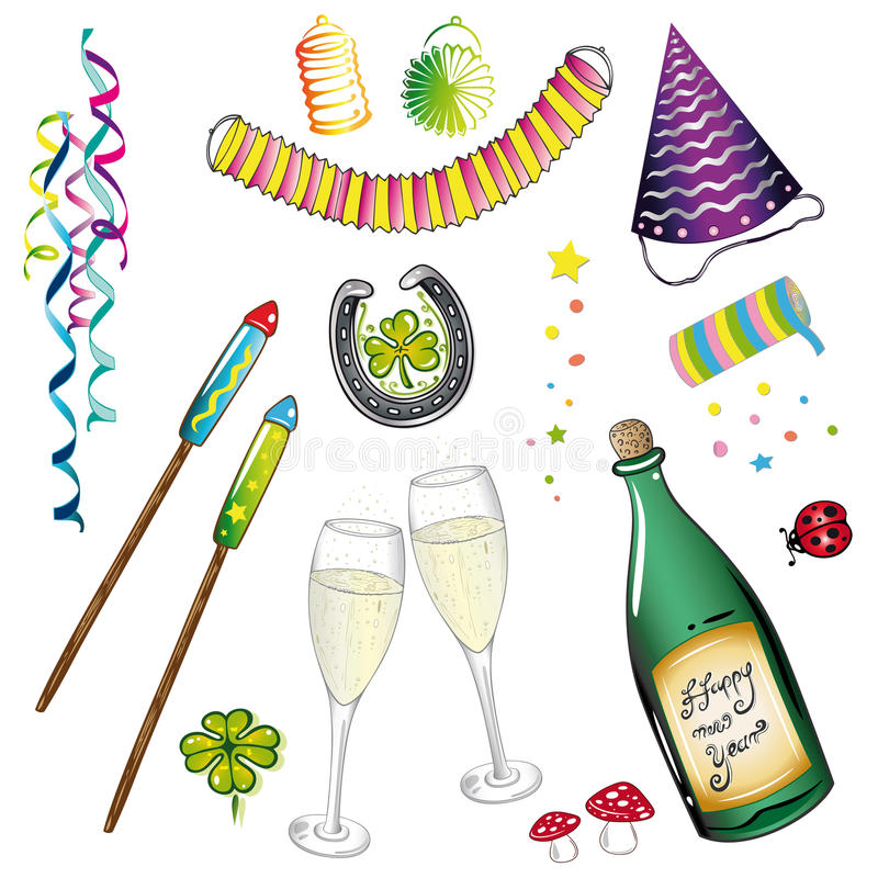 Sylvester, new years eve royalty free illustration