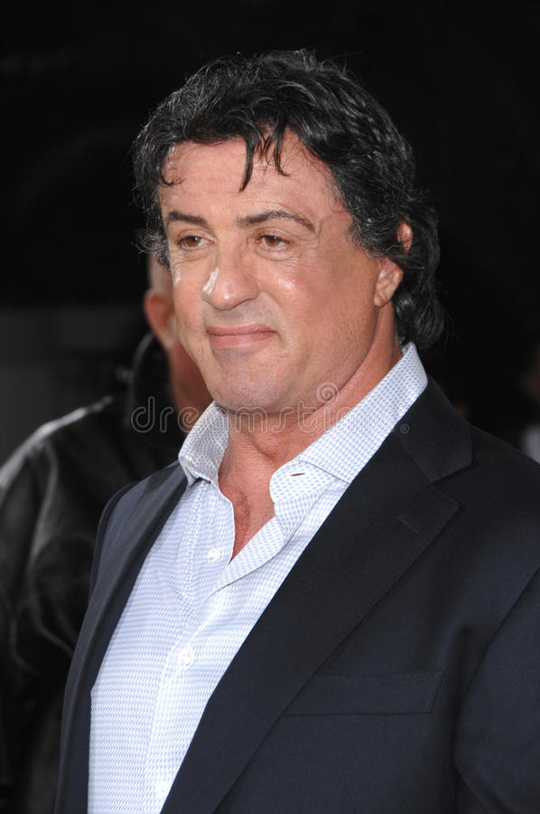 Sylvester Stallone stock afbeelding
