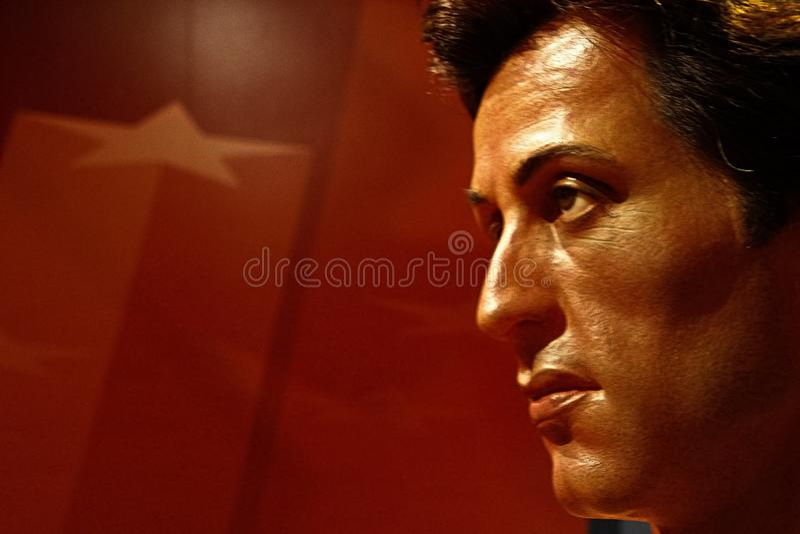 Sylvester Stallone als Rocky Balboa in Mevrouw stock foto