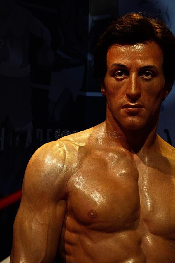 Sylvester Stallone als Rocky Balboa in Mevrouw royalty-vrije stock afbeelding