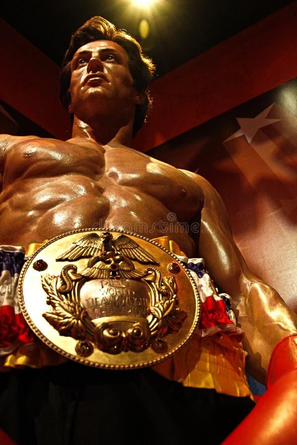 Sylvester Stallone als Rocky Balboa in Mevrouw stock fotografie