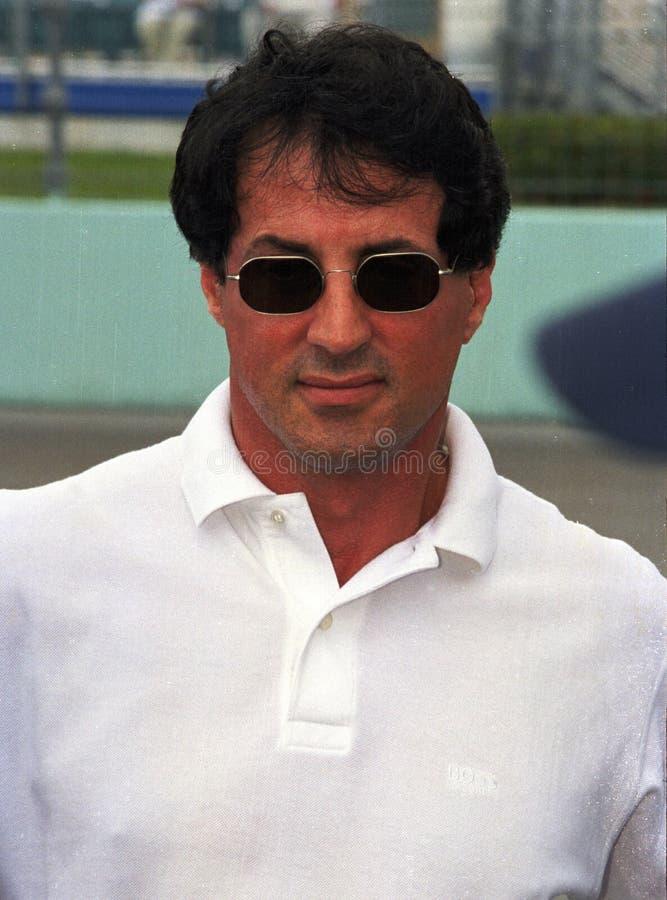 Sylvester Stallone Attends Grand Prix av Miami fotografering för bildbyråer
