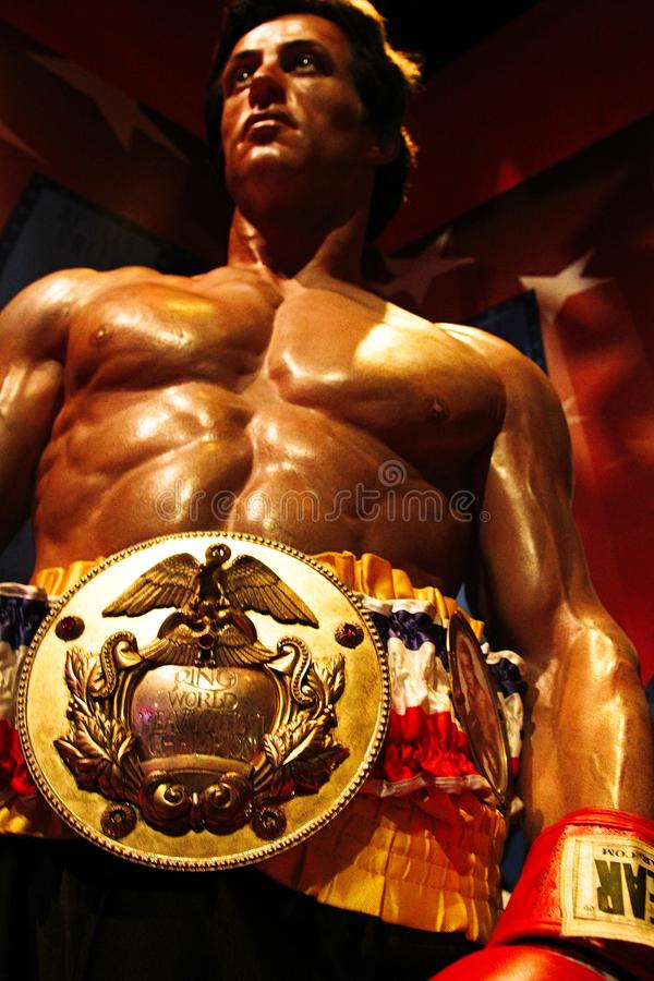 Sylvester Stallone comme Rocky Balboa images stock