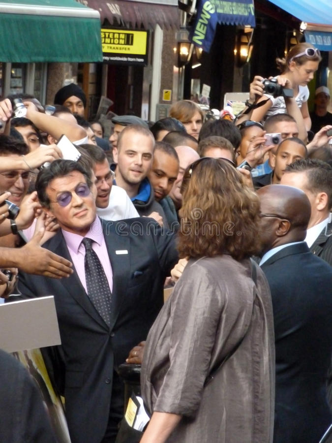 Sylvester Stallone At The Expendables Premiere