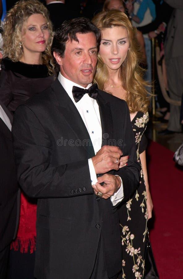 Sylvester Stallone, Jennifer Flavin imágenes de archivo libres de regalías