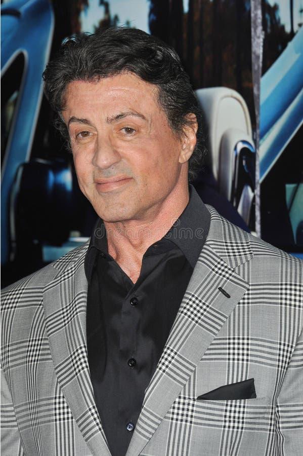 Sylvester Stallone, Jerry Weintraub royaltyfria foton