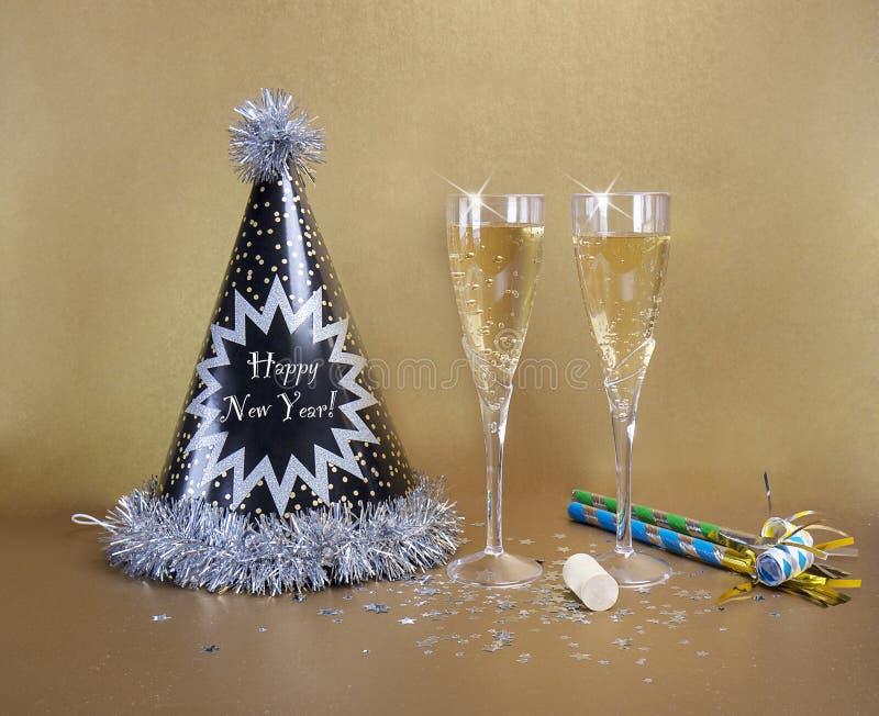 Sylvesterabende Party- stockfotos