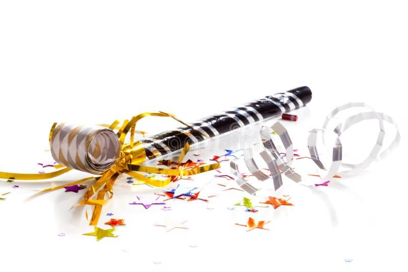 Sylvesterabende Partypfeife stockfoto