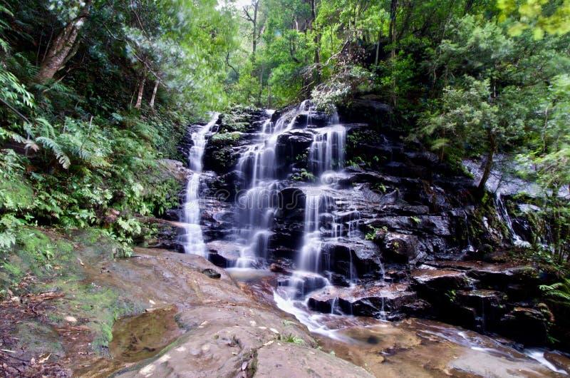 Sylvia Falls - NSW, Austrália imagens de stock