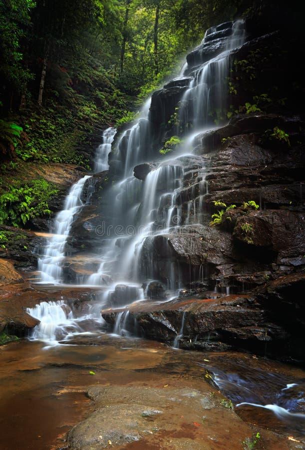 Sylvia Falls Valley das águas Austrália foto de stock