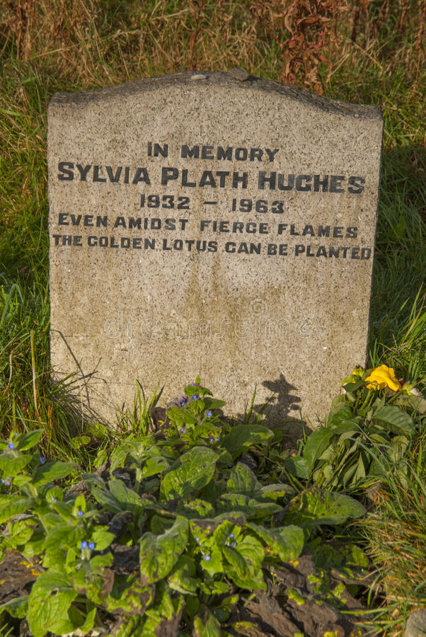 Sylvia Plath Gravestone royalty-vrije stock foto