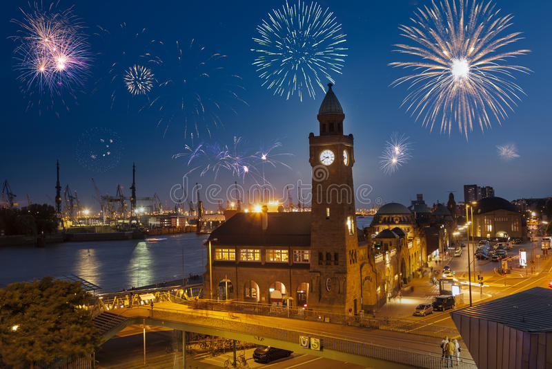 Sylwester Hamburg zdjęcia stock