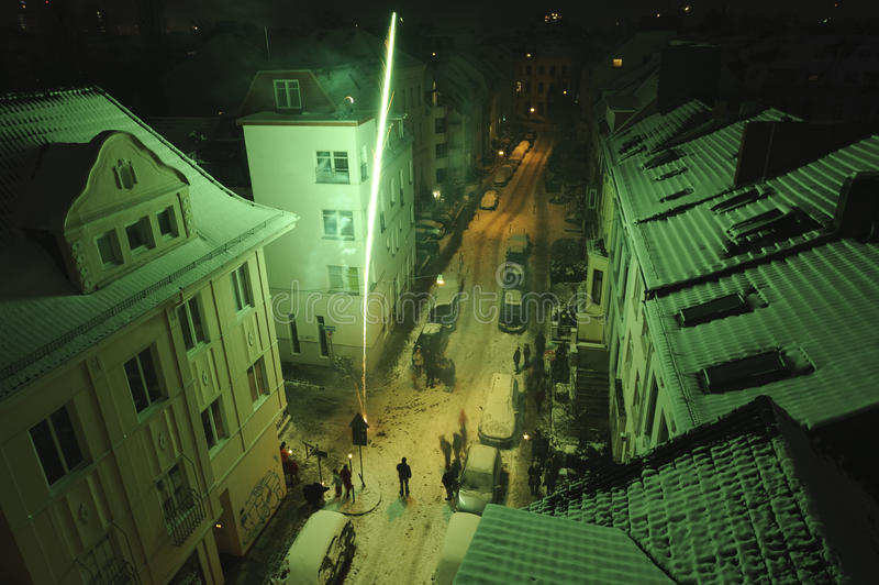 Sylwester w Bremen zdjęcia stock