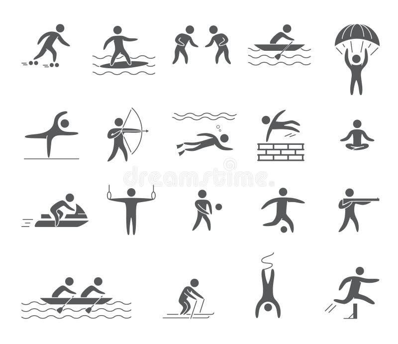 Sylwetek postacie atlety ilustracji
